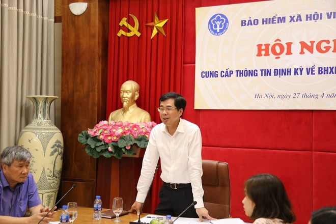 Phó Tổng Giám đốc BHXH Việt Nam phát biểu tại Hội nghị.