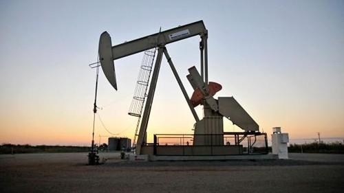 Máy bơm dầu đang hoạt động tại một giếng dầu ở Oklahoma (Mỹ). Ảnh: Reuters