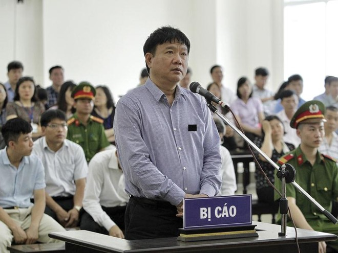 Xét xử phúc thẩm vụ án Cố ý làm trái và Tham ô tài sản xảy ra tại PVN, PVC, liên quan đến bị cáo Đinh La Thăng, Trịnh Xuân Thanh và đồng phạm. Ảnh: TTXVN.