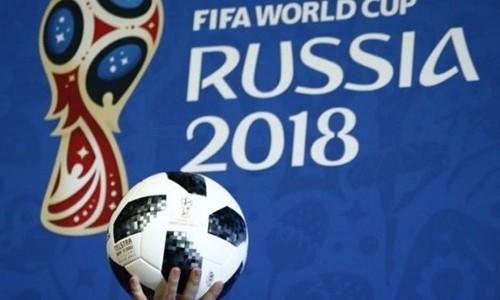 Mẫu bóng chính thức cho World Cup 2018 được giới thiệu trong một sự kiện. Ảnh: Reuters.