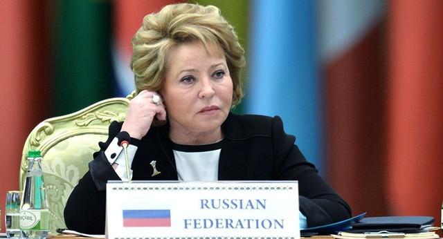 Chủ tịch Hội đồng Liên bang Nga Valentina Matvienko (Ảnh: Sputnik).