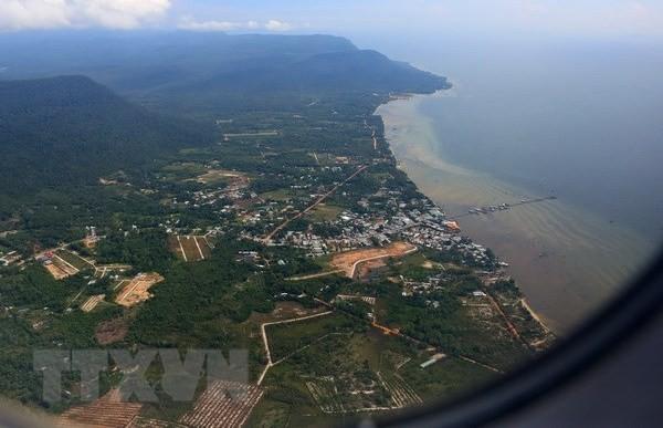 Một góc huyện đảo Phú Quốc. (Ảnh TTXVN).