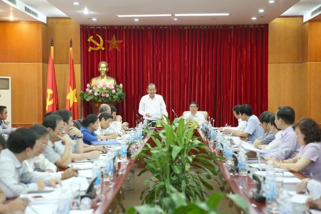 Phó Thủ tướng Trương Hòa Bình phát biểu tại hội nghị. Ảnh: VGP/Lê Sơn.