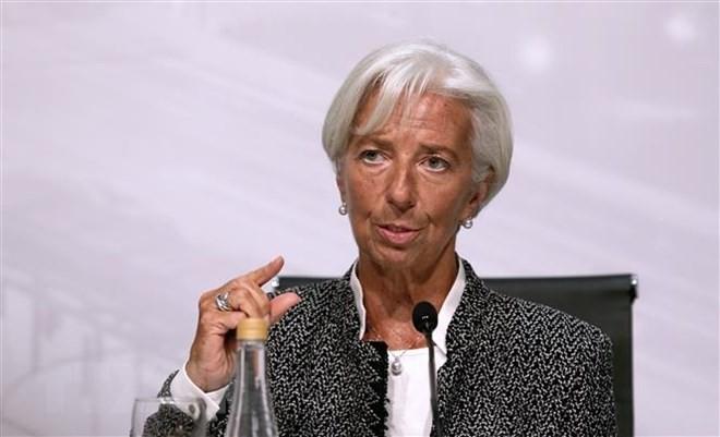 Tổng Giám đốc IMF Christine Lagarde tại cuộc họp báo ở Buenos Aires, Argentina ngày 21/7. (Ảnh: AFP/TTXVN)
