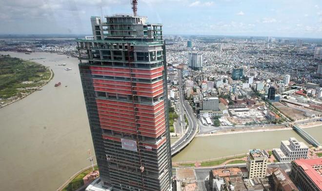 Sài Gòn One Tower (TP.HCM) là dự án bị thu giữ để xử lý nợ xấu. Ảnh: Đức Thanh.