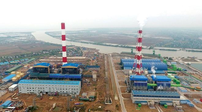 Toàn cảnh công trường Nhà máy Nhiệt điện Thái Bình 2.
