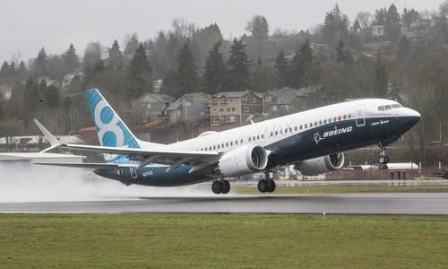 Nguyên mẫu Boeing 737 MAX 8 trong một chuyến bay thử nghiệm. Ảnh: Boeing.