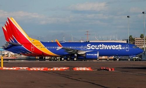Máy bay Boeing 737 MAX 8 của hãng hàng không Mỹ Southwest Airlines tại Arizona ngày 13/3. Ảnh: AFP.