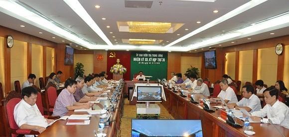 Kỳ họp thứ 36 của Ủy ban Kiểm tra Trung ương.