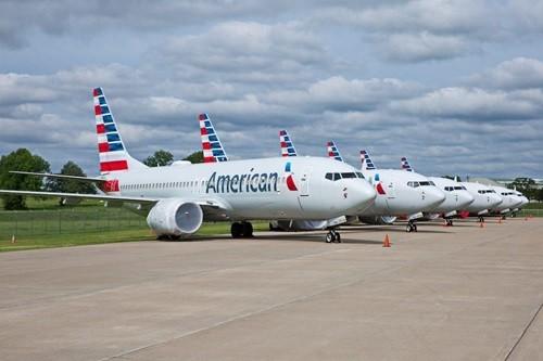 Các máy bay Boeing 737 MAX của American Airlines tại bang Oklahoma hôm 10/5. Ảnh: Reuters.