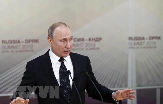 Tổng thống Nga Vladimir Putin. (Nguồn: AFP/TTXVN).