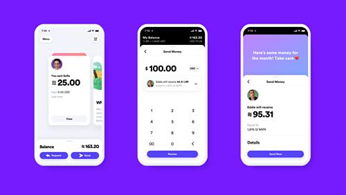 Minh họa việc chuyển tiền bằng Libra trên ứng dụng Calibra. Ảnh: Facebook.