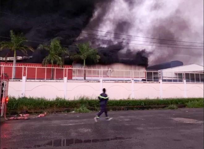 Hiện trường vụ cháy.