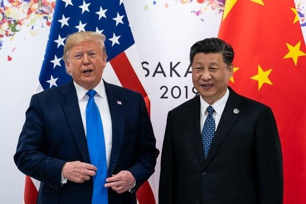 Tổng thống Trump và Chủ tịch Tập Cận Bình. (Ảnh: NYT).
