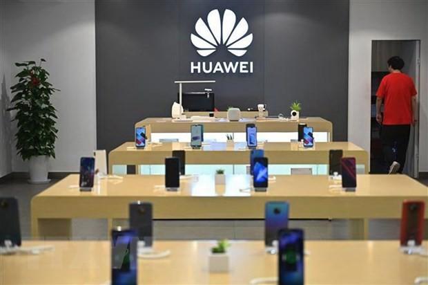 Một cửa hàng của Huawei tại Thượng Hải, Trung Quốc, ngày 26/5/2019. (Nguồn: AFP/TTXVN).