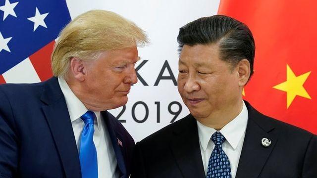 Tổng thống Mỹ Donald Trump gặp Chủ tịch Trung Quốc Tập Cận Bình tại Nhật Bản hồi tháng 6 (Ảnh: Reuters).