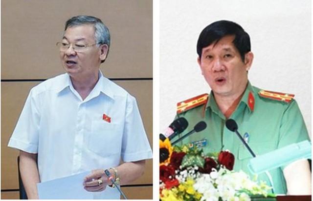 Từ trái qua, ông Hồ Văn Năm - Trưởng Ban Nội chính tỉnh Đồng Nai và ông Huỳnh Tiến Mạnh - Giám đốc Công an tỉnh này.