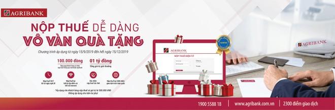 """""""Nộp thuế dễ dàng - Vô vàn quà tặng"""" với Agribank"""