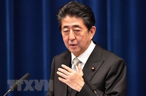 Thủ tướng Nhật Bản Shinzo Abe phát biểu trong cuộc họp báo sau cuộc họp nội các tại Tokyo ngày 11/9/2019. (Ảnh: AFP/TTXVN)