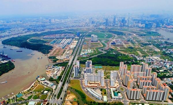 Khu đô thị mới Thủ Thiêm (ảnh: Lê Toàn).
