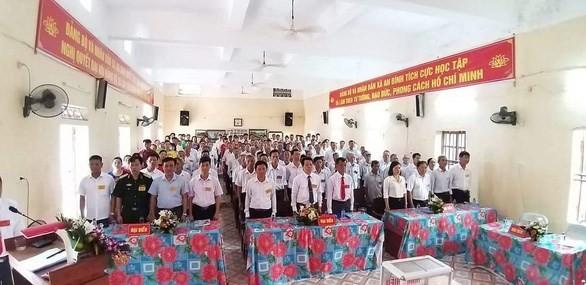 Quang cảnh kỳ đại hội Đảng bộ xã An Bình, huyện Kiến Xương, tỉnh Thái Bình nhiệm kỳ 2020-2025 tổ chức ngày 13/5. (Nguồn: Báo Tuổi trẻ).