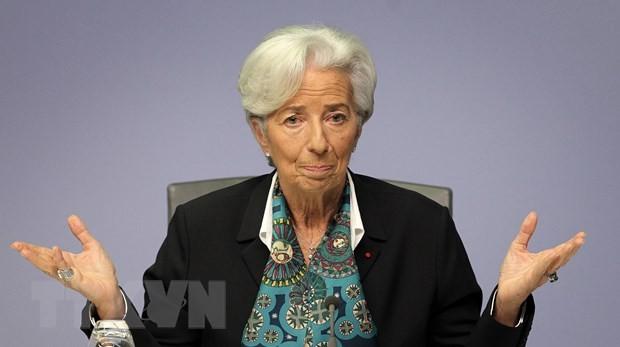 Chủ tịch ECB Christine Lagarde. (Ảnh: AFP/TTXVN).