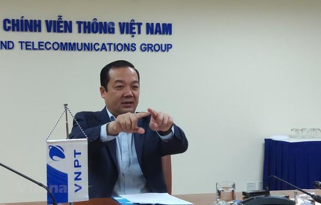 Ông Phạm Đức Long là một trong những nhân tố quan trọng trong việc thúc đẩy, dẫn dắt VNPT tái cơ cấu thành công. (Ảnh: Trung Hiền/Vietnam+).