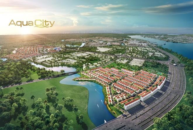 Sở hữu vị trí cửa ngõ đắc địa của đô thị Aqua City, phân khu River Park 1 mở ra giá trị sinh lời tiềm năng.