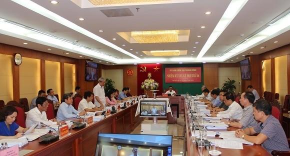 Đồng chí Trần Cẩm Tú chủ trì kỳ họp. Ảnh UBKTTW.