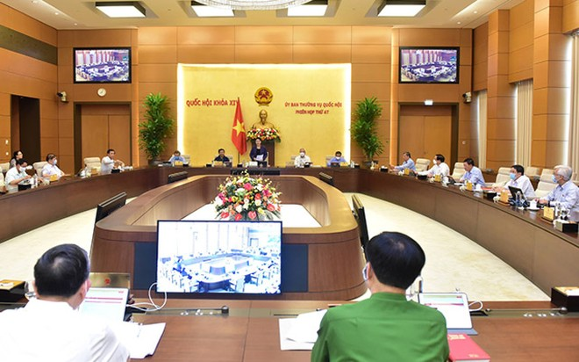 Phiên họp thứ 47 của Uỷ ban Thường vụ Quốc hội - (Ảnh CTV).