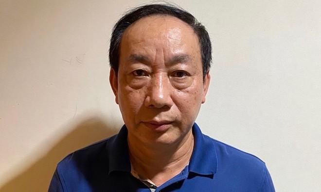 Ông Nguyễn Hồng Trường tại cơ quan công an. Ảnh: Bộ Công an