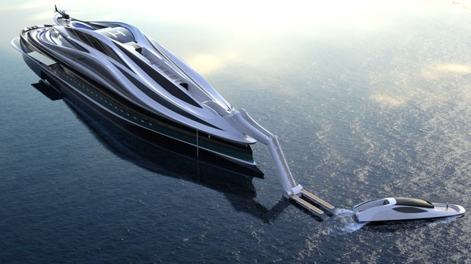 """Mẫu thiết kế siêu du thuyền mô phỏng """"thiên nga"""" trị giá 500 triệu USD độc đáo nhất thế giới ảnh 6"""