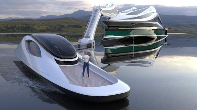 """Mẫu thiết kế siêu du thuyền mô phỏng """"thiên nga"""" trị giá 500 triệu USD độc đáo nhất thế giới ảnh 7"""