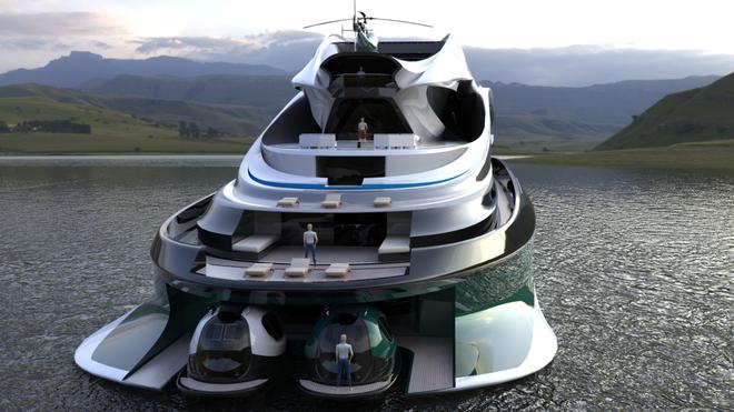 """Mẫu thiết kế siêu du thuyền mô phỏng """"thiên nga"""" trị giá 500 triệu USD độc đáo nhất thế giới ảnh 4"""