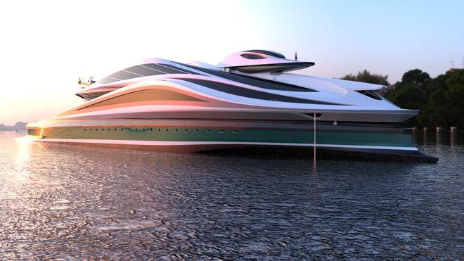 """Mẫu thiết kế siêu du thuyền mô phỏng """"thiên nga"""" trị giá 500 triệu USD độc đáo nhất thế giới ảnh 1"""
