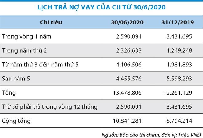 Đầu tư hạ tầng kỹ thuật TP.HCM (CII) lún sâu trong đống nợ ảnh 1