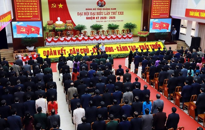 Toàn cảnh Đại hội Đảng bộ tỉnh Quảng Nam lần thứ XXII.