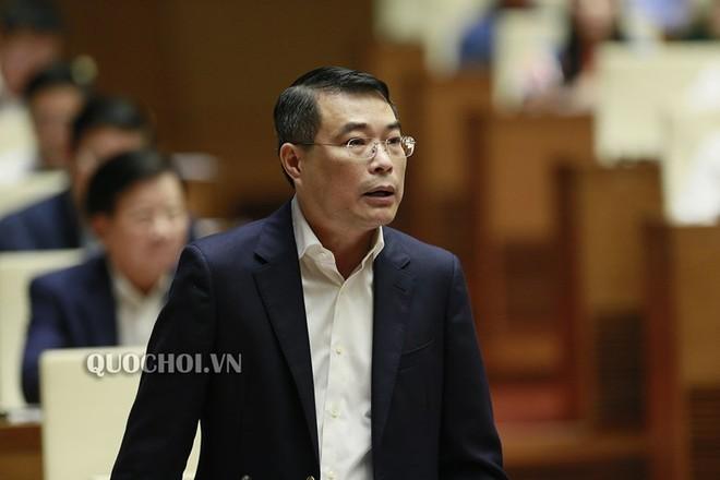 Thống đốc Ngân hàng Nhà nước Lê Minh Hưng trong một phiên họp Quốc hội.
