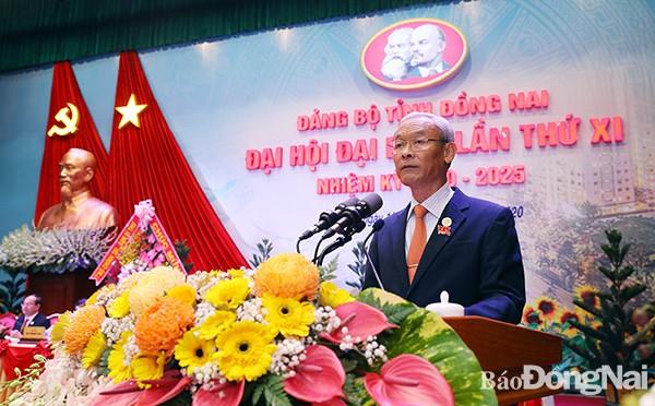 Đồng chí Nguyễn Phú Cường tái đắc cử Bí thư Tỉnh ủy Đồng Nai. Ảnh: Báo Đồng Nai.