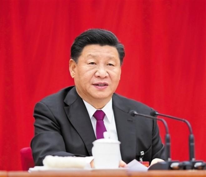 Tổng Bí thư Chủ tịch Trung Quốc Tập Cận Bình phát biểu tại Hội nghị. Nguồn: Mạng Tân Hoa.