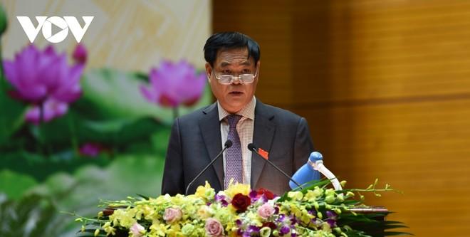 Ông Huỳnh Tấn Việt phát biểu bế mạc Đại hội.
