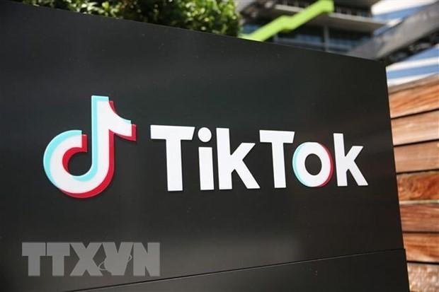 Biểu tượng TikTok. (Nguồn: AFP/TTXVN).
