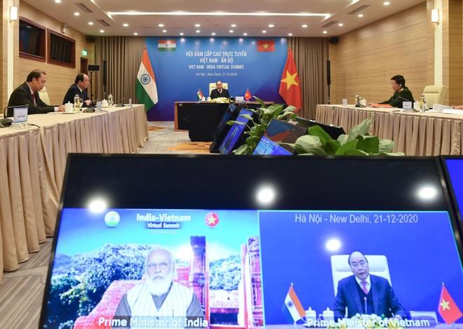 Hội đàm trực tuyến Việt Nam - Ấn Độ.