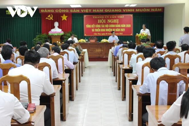 Hội nghị tổng kết công tác Nội chính Đảng năm 2020 và triển khai nhiệm vụ năm 2021 của Thành ủy Cần Thơ.