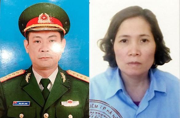 Bị cáo Hoa Hữu Long và vợ là Cao Thị Kim Loan. (Nguồn: tuoitre.vn).