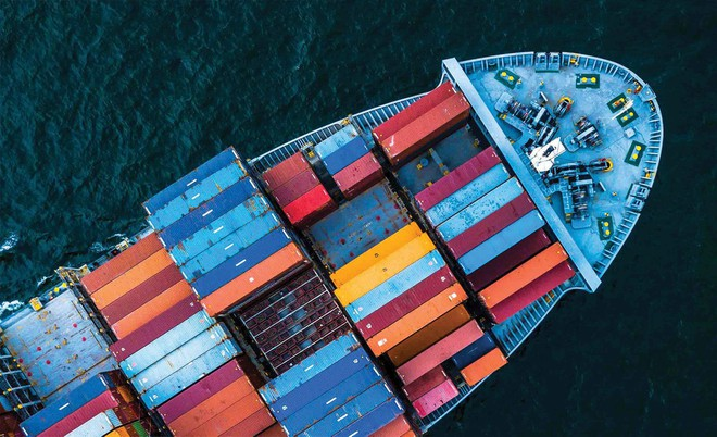 Chi phí thuê container loại 20 feet từ Việt Nam đi châu Âu tăng từ mức 1.200 - 1.500 USD/container lên 7.000 - 8.000 USD/container. Ảnh: Shutterstock.