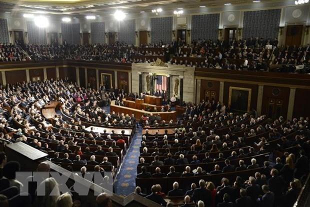 Toàn cảnh một phiên họp của Quốc hội Mỹ tại Washington, DC. (Nguồn: AFP/TTXVN).