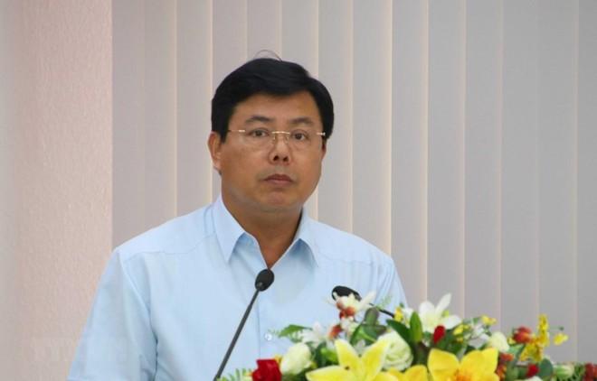 Bí thư Tỉnh ủy Cà Mau Nguyễn Tiến Hải được bầu làm Chủ tịch HĐND tỉnh khóa IX, nhiệm kỳ 2016-2021. (Ảnh:Kim Há/TTXVN).