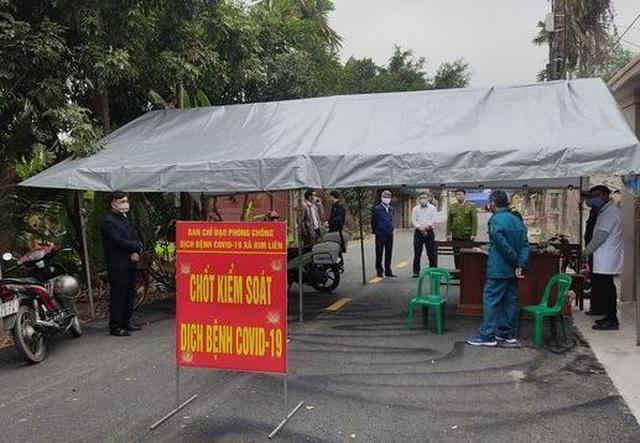 Một chốt kiểm dịch tại xã Kim Liên, Kim Thành, Hải Dương.
