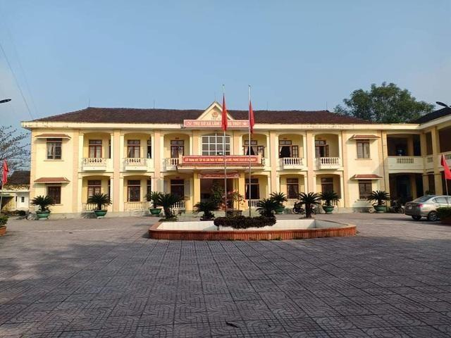 Trụ sở UBND xã Lâm Trung Thủy nơi ông Đinh Trọng Quốc, Phó Bí thư Đảng ủy công tác.